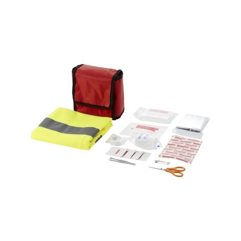 Trousse de premiers secours et gilet de sécurité 18 pièces Atlas à prix de gros - Gilet jaune à prix grossiste