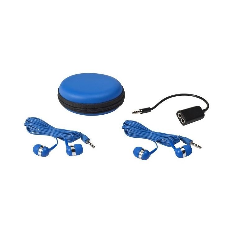 Set oreillettes et répartiteur avec boîtier - écouteurs filaires à prix de gros