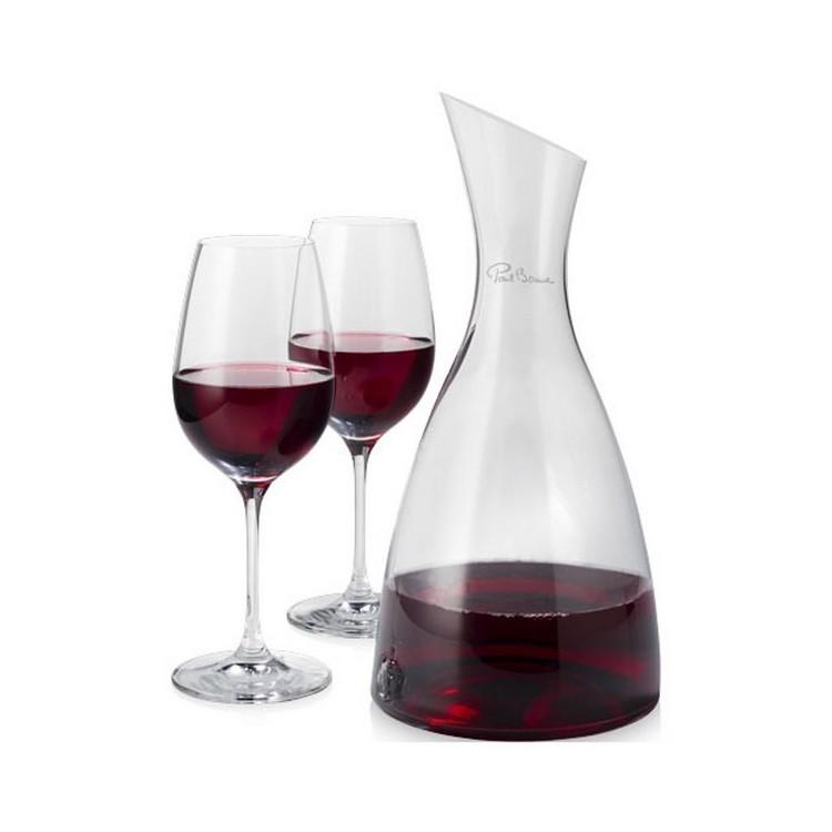 Décanteur Prestige avec 2 verres à vin à prix de gros - Carafe à prix grossiste