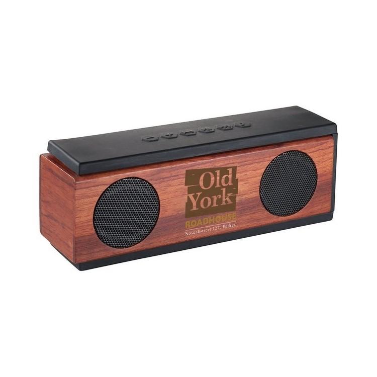 Haut parleur Bluetooth® en bois 2x3W - Bluetooth à prix de gros