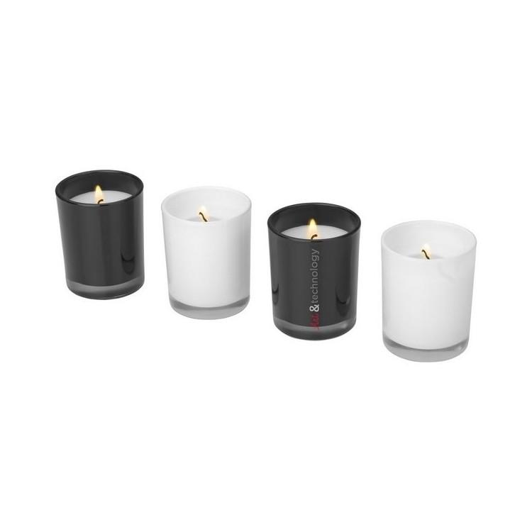 Ensemble de 4 bougies parfumées Hills à prix de gros - Accessoire de relaxations à prix grossiste