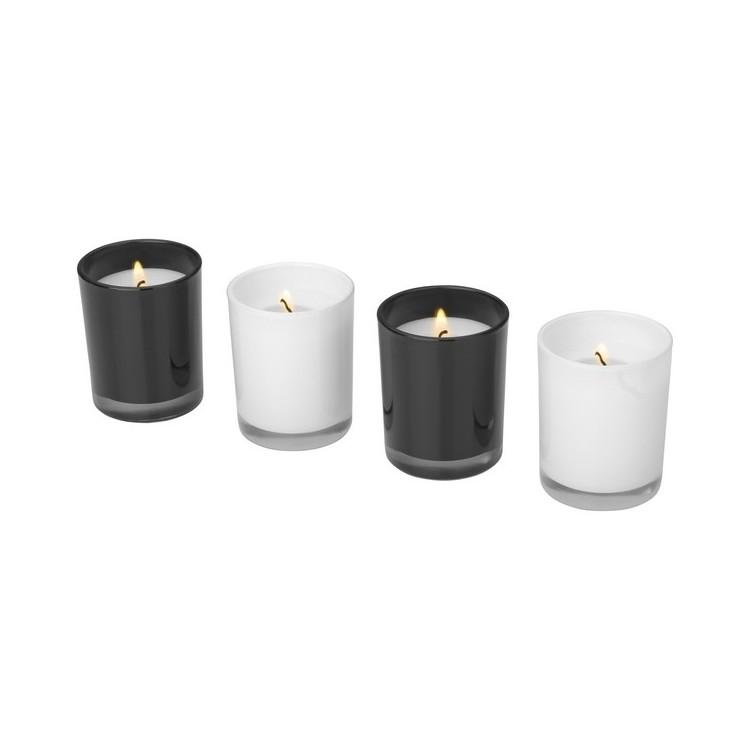 Ensemble de 4 bougies parfumées Hills - Bougie à prix grossiste