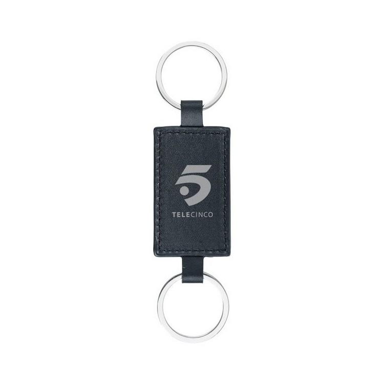 Porte-clés look cuir Felipe à prix grossiste - Porte-clés plastique à prix de gros
