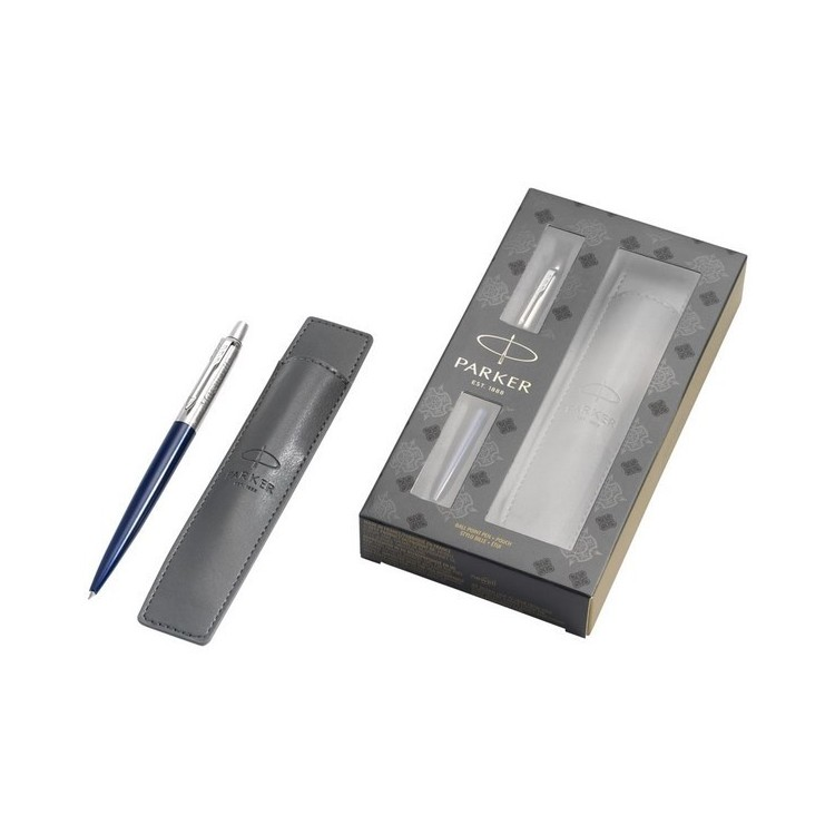 Parure cadeau bleu avec stylo et pochette Jotter Royal Blue à prix grossiste - Parure à prix de gros