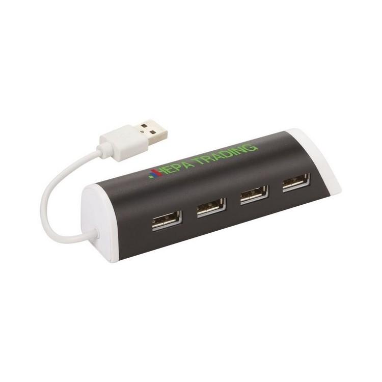 Support téléphone et hub 4 ports Power - Hub USB à prix de gros