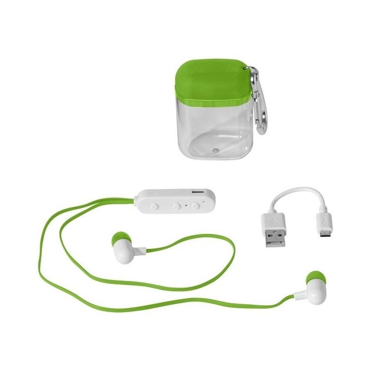 Oreillettes Bluetooth Budget avec boîtier à mousqueton à prix de gros - Ecouteurs bluetooth à prix grossiste
