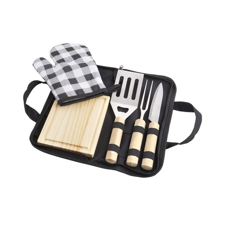Set de barbecue 5 pièces West - Gant de cuisine à prix de gros