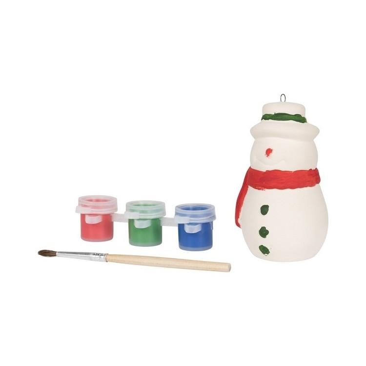 Peindre un bonhomme de neige à prix grossiste - Accessoire de noël à prix de gros