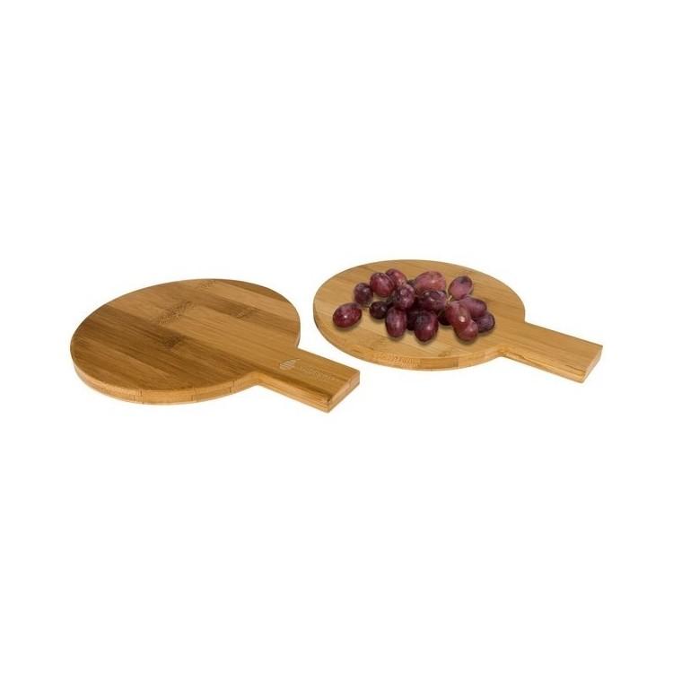 Ensemble apéritif 2 pièces rondes en bambou Ayden à prix grossiste - Ustensile de cuisine à prix de gros