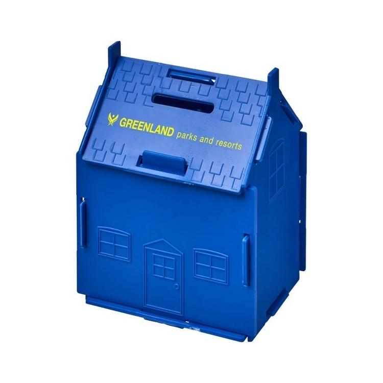 Tirelire plastique Uri en forme de maison - Tirelire à prix grossiste