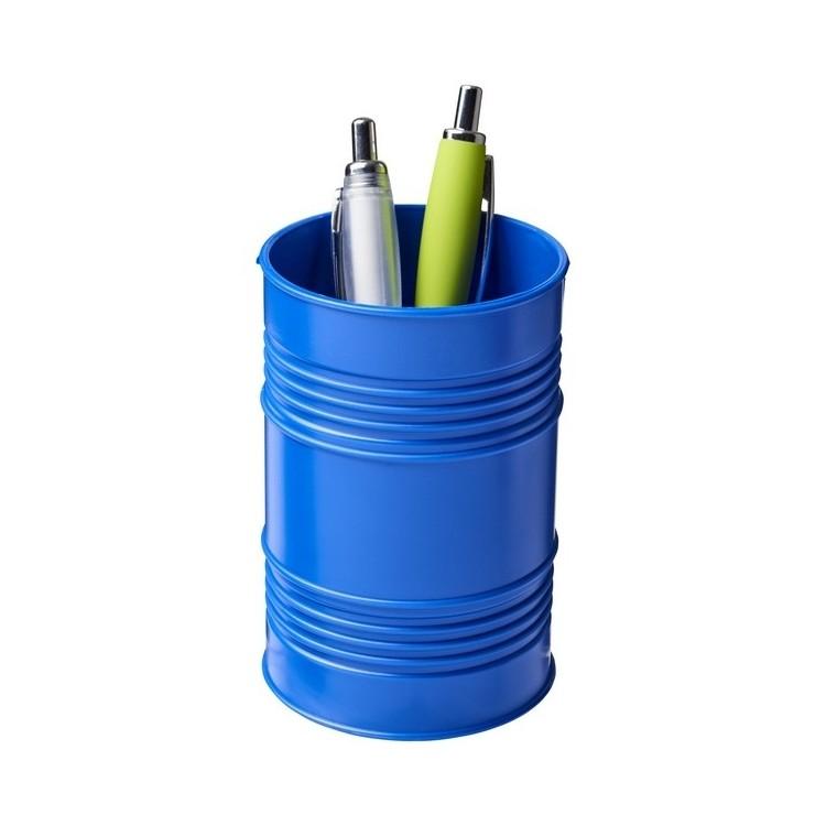 Pot à stylos Bardo en plastique style baril de pétrole - Pot à crayons à prix grossiste