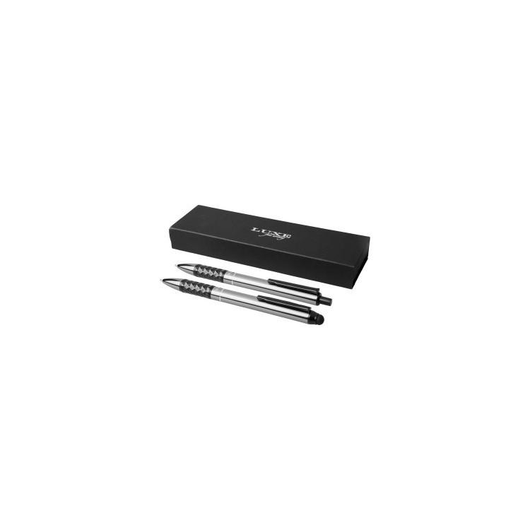 Coffret cadeau stylo duo Tactical Grip - Parure de stylos à prix de gros