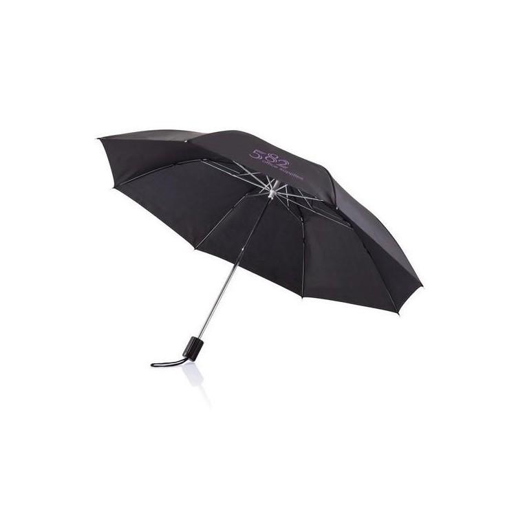 """Parapluie pliable 20"""" Deluxe à prix grossiste - Parapluie compact à prix de gros"""