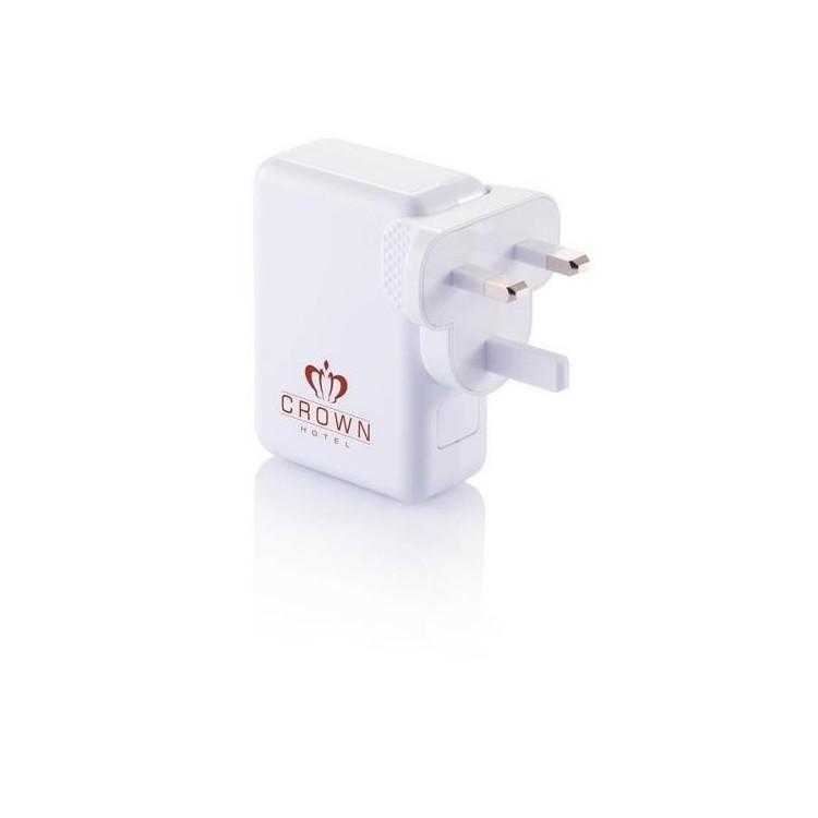 Adaptateur de voyage avec 4 ports USB à prix de gros - Prise éléctrique universelle à prix grossiste