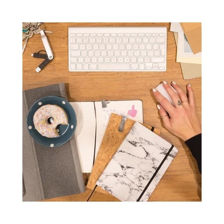 Carnet de notes en liège avec stylo en bambou A5 à prix de gros - Bloc-notes à prix grossiste