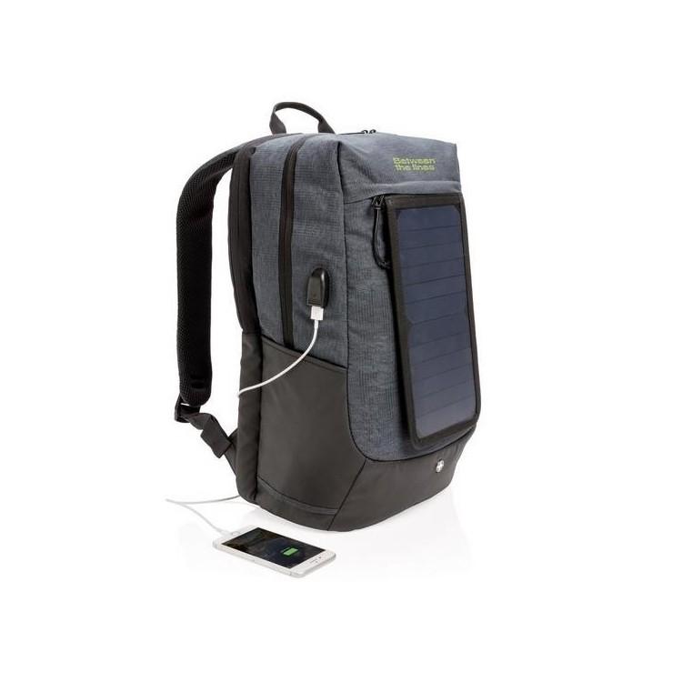 """Sac à dos solaire pour ordinateur 15"""" à prix de gros - Sac à dos à prix grossiste"""