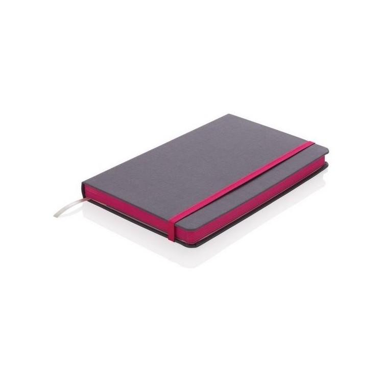 Carnet de notes A5 tissu avec bord coloré - Bloc-notes à prix de gros