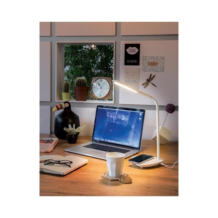 Lampe de bureau avec station de charge induction 5W à prix grossiste - Lampe LED à prix de gros