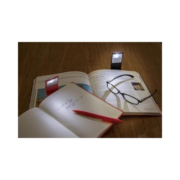 Carnet de notes A5 avec marque-page LED - Bloc-notes à prix grossiste