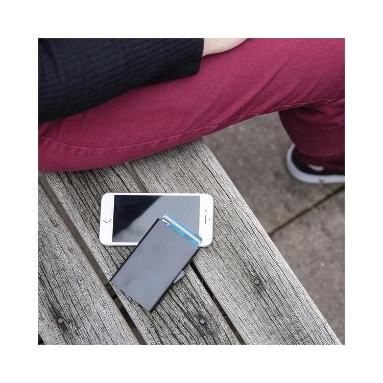 Porte-cartes en aluminium anti RFID C-Secure - Porte-cartes de crédit à prix grossiste