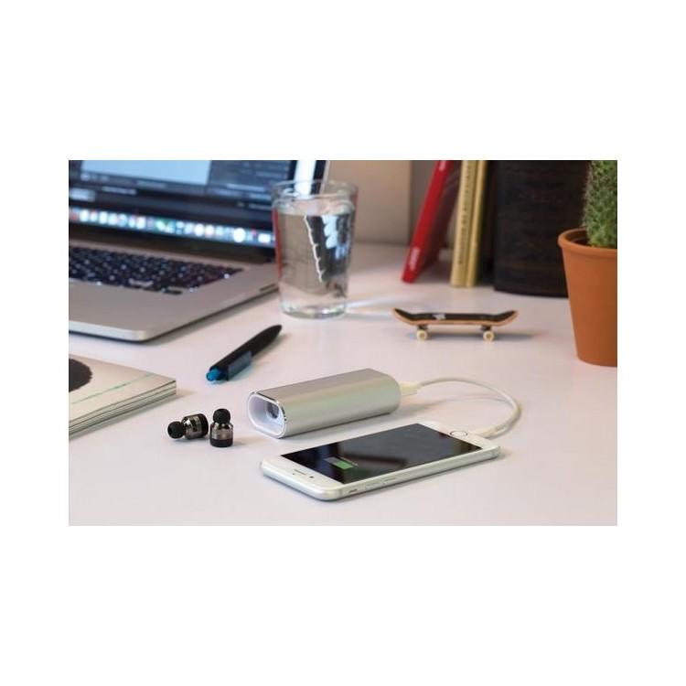 Oreillettes sans fil avec powerbank 2000 mAh - Bluetooth à prix grossiste