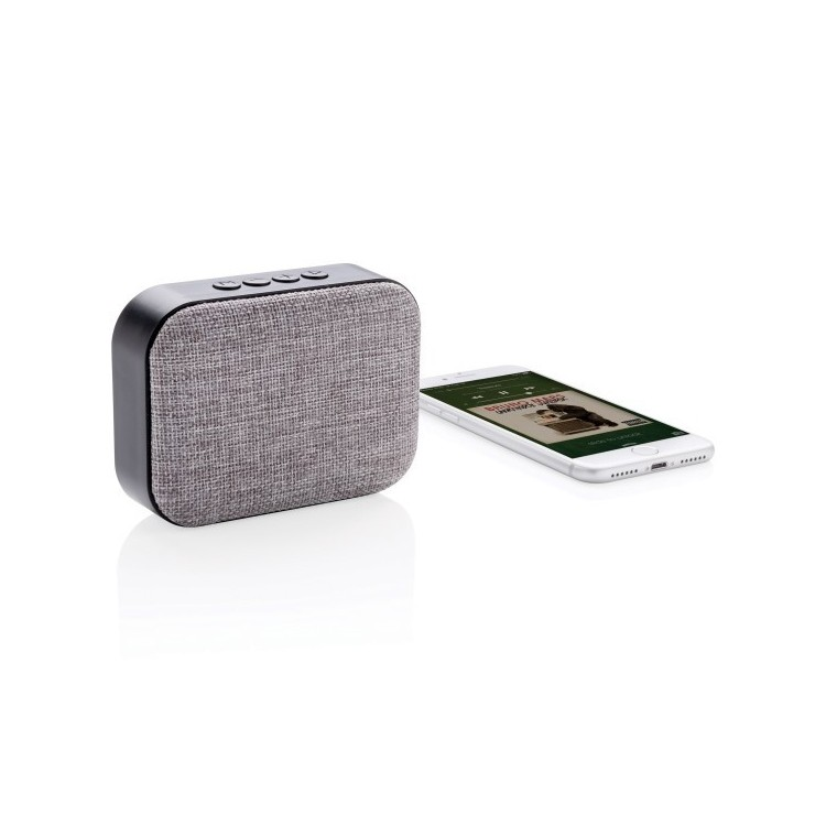 Haut-parleur 3W finition tissu à prix grossiste - Bluetooth à prix de gros