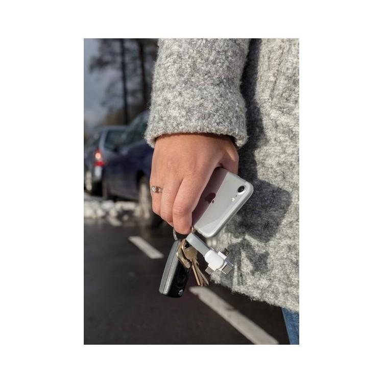 Porte-clés câble 3 en 1 - Accessoire pour tablettes à prix de gros