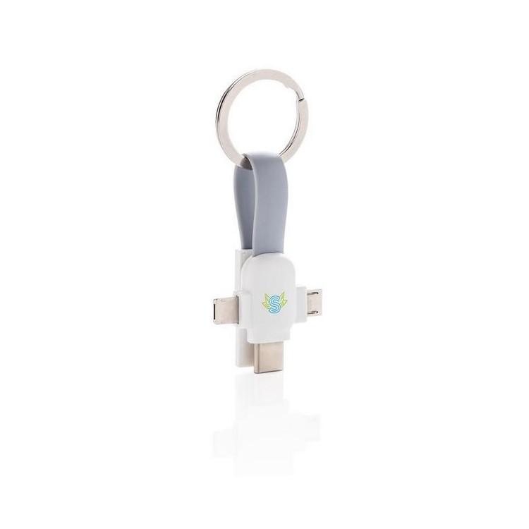 Porte-clés câble 3 en 1 - Porte-clés à prix de gros