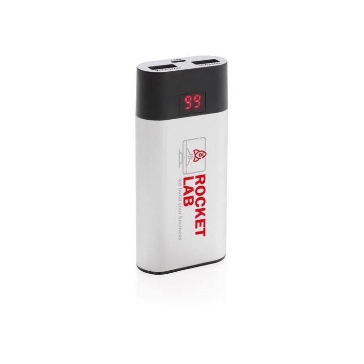 Batterie de secours 4000 mAh avec affichage LED à prix grossiste - Powerbank / batterie externe à prix de gros