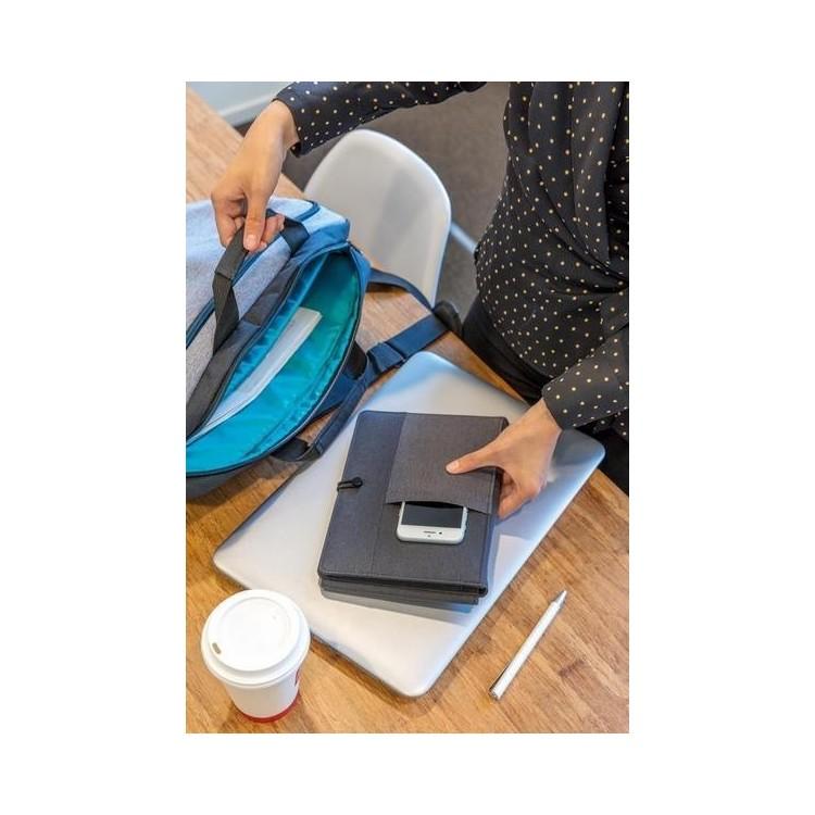 Housse à carnet Kyoto avec 5W chargeur à induction à prix grossiste - Bloc-notes à prix de gros