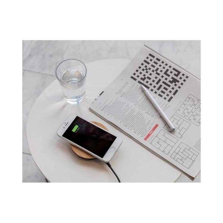 Chargeur à induction 5W Bamboo X à prix grossiste - Equitable & Durable à prix de gros