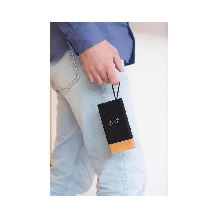 Batterie de secours 5000mAh à induction 5W Bamboo X à prix de gros - Equitable & Durable à prix grossiste