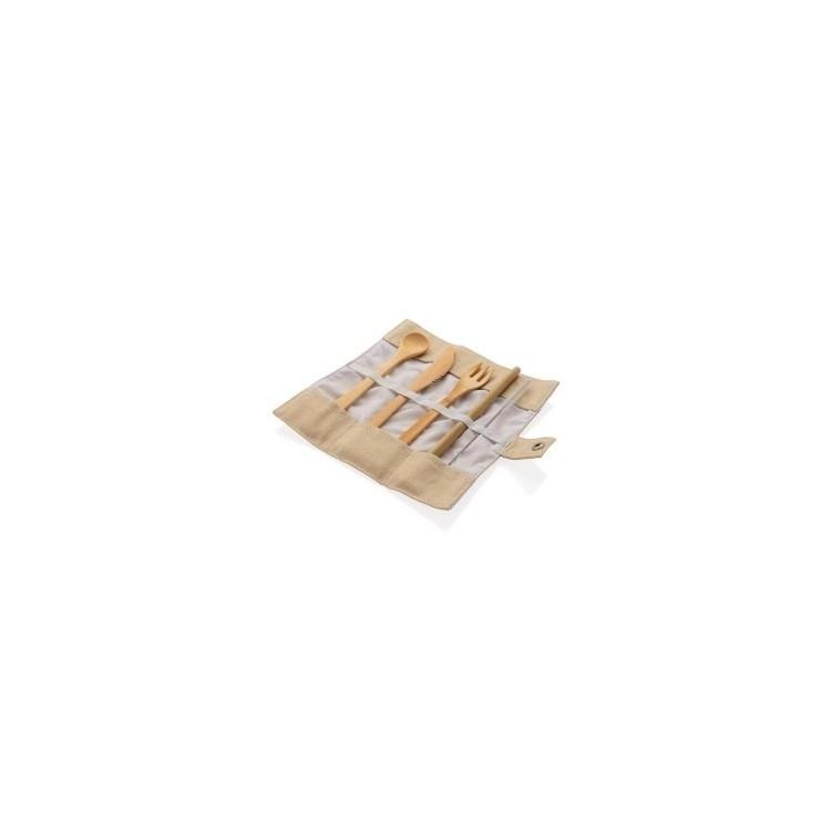 Set de couverts en bambou - Equitable & Durable à prix grossiste