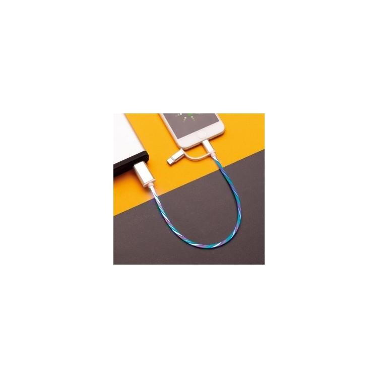 Câble lumineux 3 en 1 - Cable de charge à prix de gros