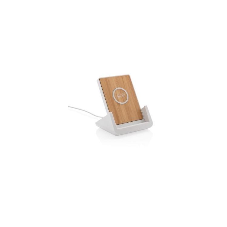 Support téléphone avec chargeur à induction 5W Ontario à prix grossiste - Support téléphone à prix de gros