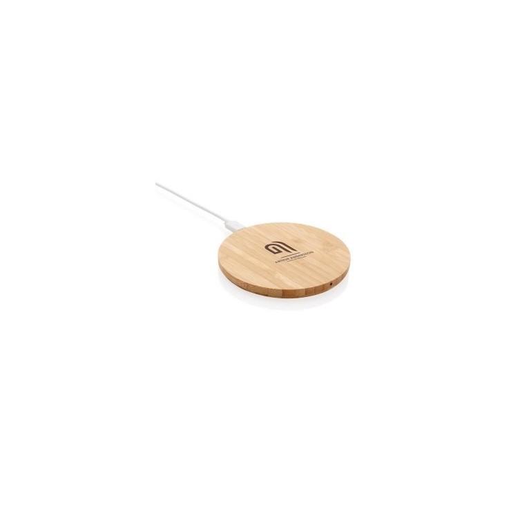 Chargeur à induction 5W en bambou - Produit en bois à prix grossiste