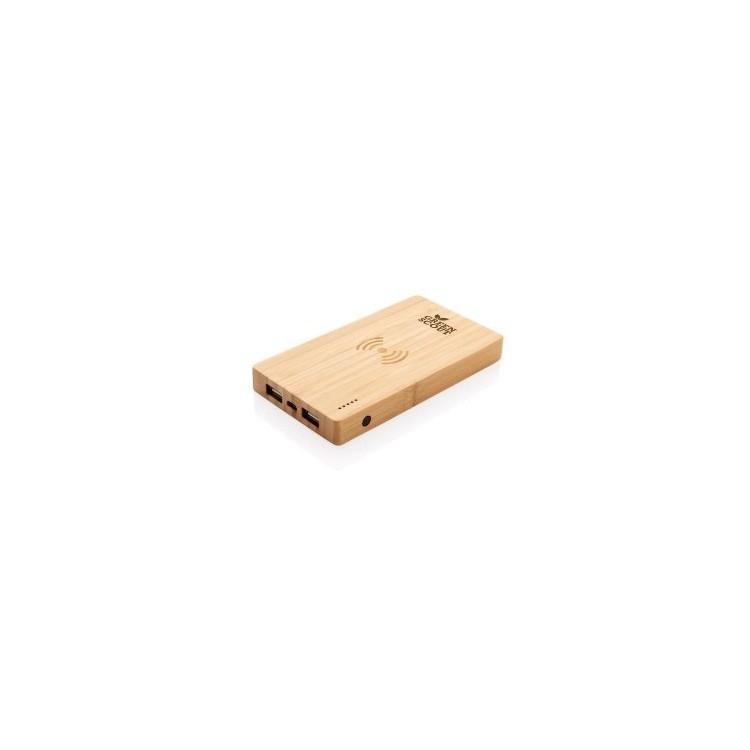 Batterie de secours 4000 mAh à induction 5W à prix grossiste - Produit en bois à prix de gros