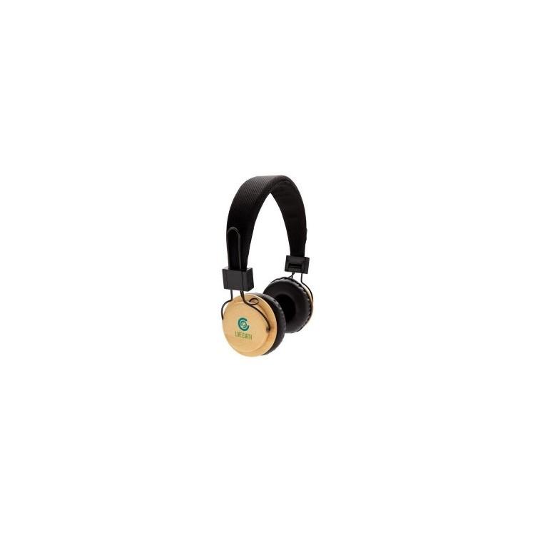 Casque audio sans fil en bambou - Casque audio à prix de gros