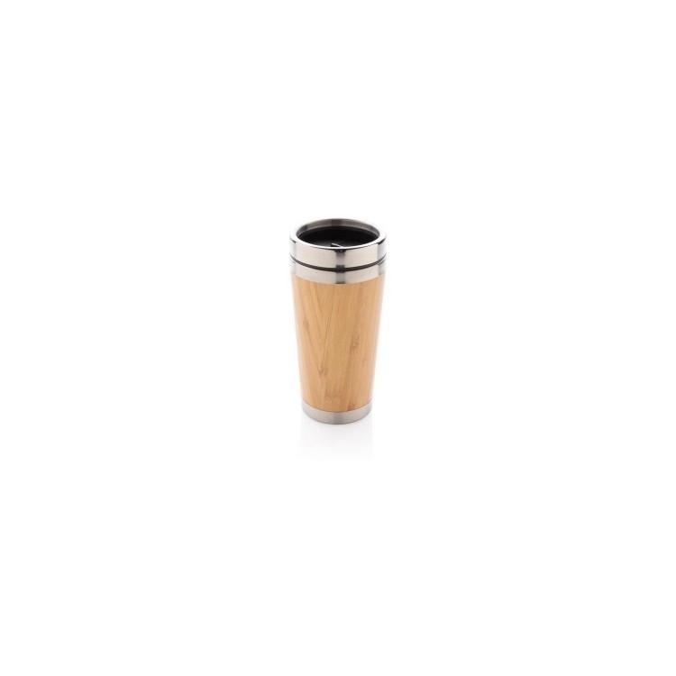 Mug double paroi en bambou à prix grossiste - Produits en bois à prix de gros