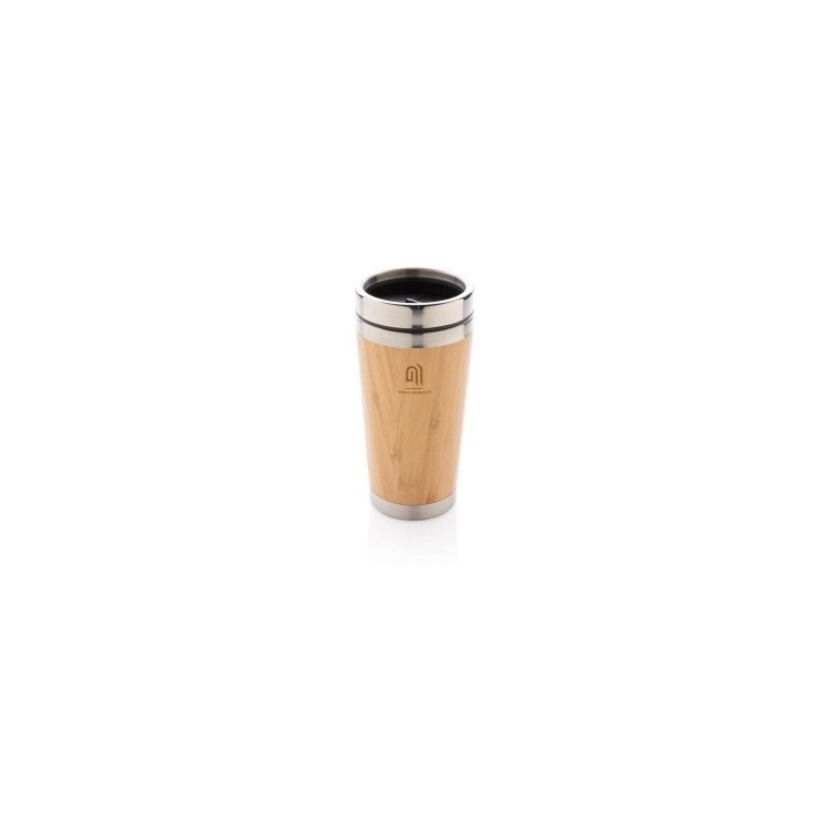 Mug double paroi en bambou à prix grossiste - Mug isotherme à prix de gros
