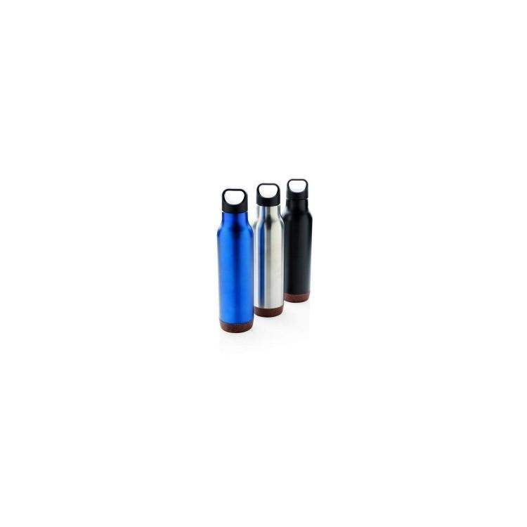 Bouteille isotherme et étanche avec finition liège - Bouteille isotherme à prix grossiste