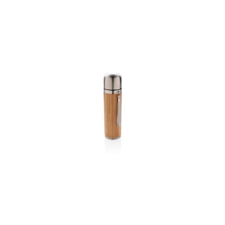 Bouteille isotherme en bambou à prix grossiste - Produits en bois à prix de gros