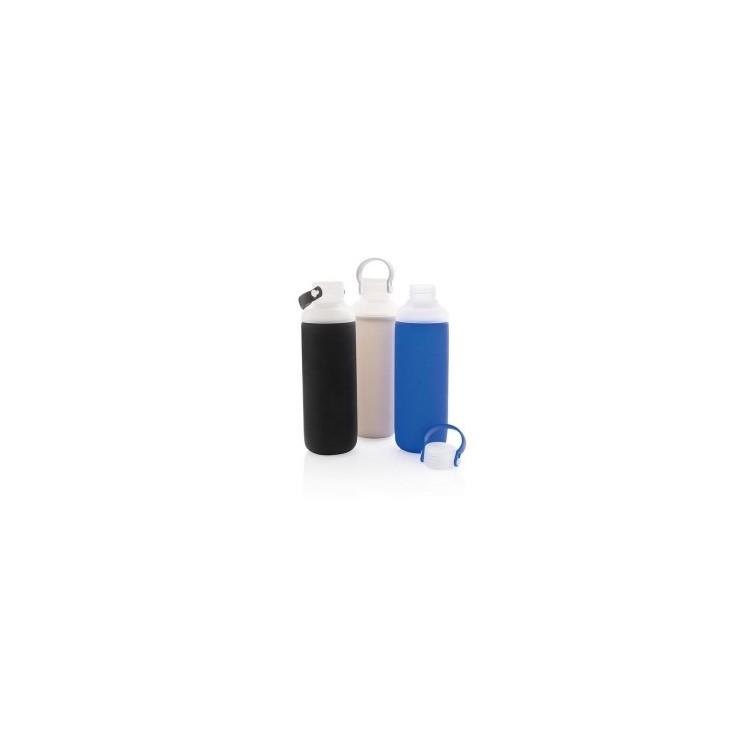 Bouteille d'eau en verre avec revêtement en silicone à prix grossiste - Bouteille à prix de gros
