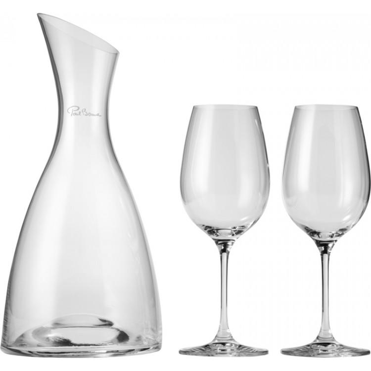 Décanteur Prestige avec 2 verres à vin à prix de gros - Carafe à vin à prix grossiste