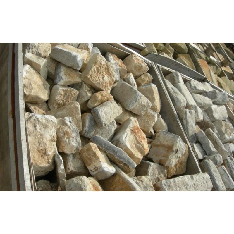 Pavé ancien en calcaire - Materiaux anciens à prix de gros
