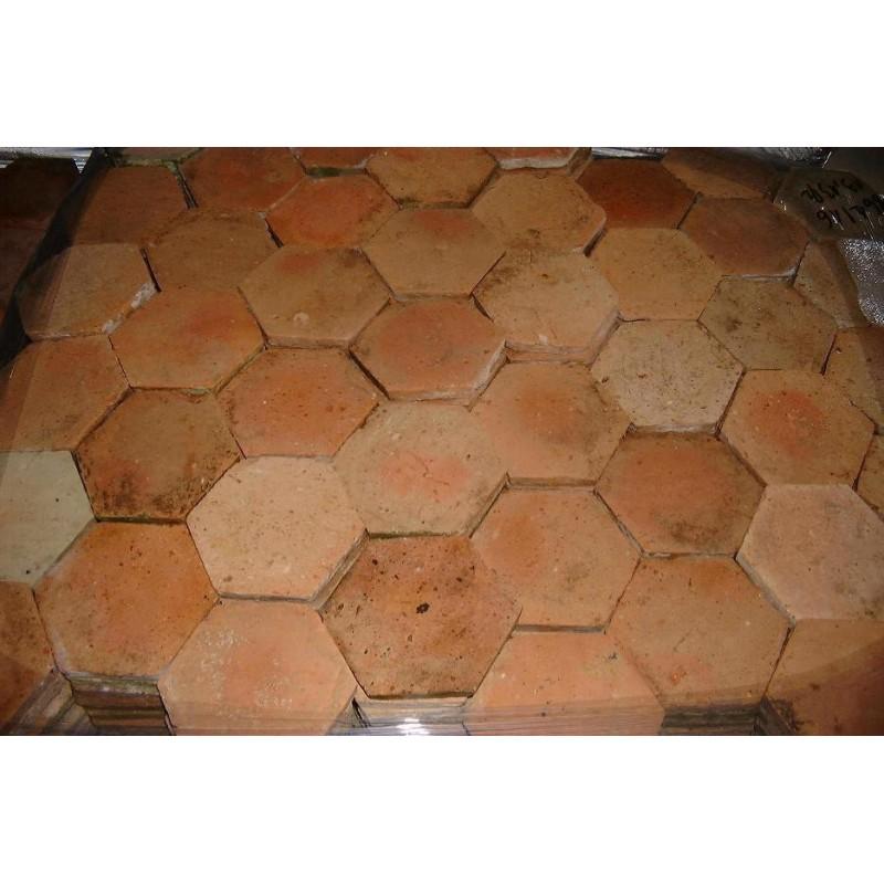 """Tomettes anciennes hexagonales """"Val de Loire"""" - Tomette ancienne à prix grossiste"""