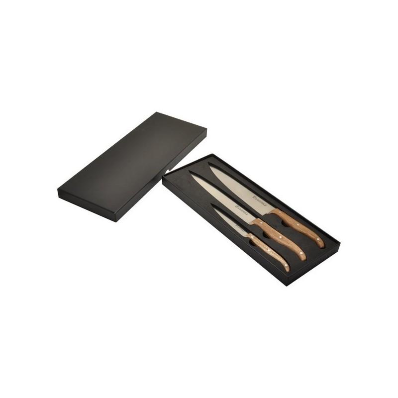 Coffret de 3 couteaux de cuisine 'Chef' Laguiole à prix grossiste - Article de loisir à prix de gros